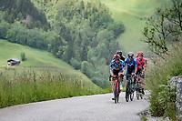 polka dot jersey / KOM leader Matthew Holmes (GBR/Lotto Soudal) up the Col du Pré (HC/1748m/12.6km@7.7%)<br /> <br /> 73rd Critérium du Dauphiné 2021 (2.UWT)<br /> Stage 7 from Saint-Martin-le-Vinoux to La Plagne (171km)<br /> <br /> ©kramon