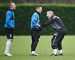 Ally McCoist with Kenny Miller and Ian Black