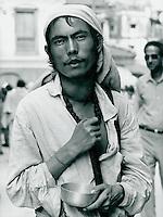 Bettler in Indien 1970