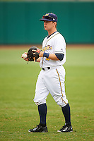 Montgomery Biscuits second baseman Thomas Coyle (2) warms up before a game against the Jackson Generals on April 29, 2015 at Riverwalk Stadium in Montgomery, Alabama.  Jackson defeated Montgomery 4-3.  (Mike Janes/Four Seam Images)