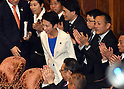 Renho questions PM Abe in first parliamentary debate