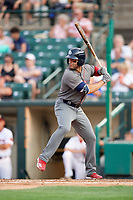 Lehigh Valley IronPigs shortstop Danny Espinosa (3) at bat during a game against the Rochester Red Wings on June 30, 2018 at Frontier Field in Rochester, New York.  Lehigh Valley defeated Rochester 6-2.  (Mike Janes/Four Seam Images)