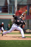 Erie Seawolves pitcher Jeff Ferrell (25) delivers a pitch during a game against the Richmond Flying Squirrels on May 20, 2015 at Jerry Uht Park in Erie, Pennsylvania.  Erie defeated Richmond 5-2.  (Mike Janes/Four Seam Images)