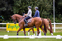 AUS-Sammi Birch rides Finduss PFB during the arena familiarisation for the CCI5*-L. 2021 GBR-Chedington Bicton CCI5* International Horse Trial. Bicton Park, Devon. Great Britain. Thursday 2 September.  Copyright Photo: Libby Law Photography