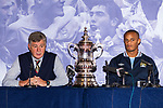 © Joel Goodman - 07973 332324  . 23/05/2011 . Manchester, UK . BRIAN KIDD and VINCENT KOMPANY at a press conference at Manchester Town Hall ahead of the parade . Tens of thousands of fans line the streets of Manchester as Manchester City Football Club hold an open-topped bus parade through the city. The team are celebrating winning the FA Cup, their first trophy in 35 years, and for qualifying for next season's Champions League . Photo credit: Joel Goodman