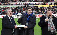 Tuesday 01 January 2013<br /> Pictured: (L-R) Joe Kelly, Leigh Dineen, Kevin Johns.<br /> Re: Barclays Premier League, Swansea City FC v Aston Villa at the Liberty Stadium, south Wales.