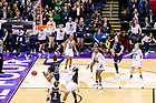 April 1, 2018; Arike Ogunbowale (24) reacts after making the game winning shot at the Women's Basketball Final Four Championship Game. Notre Dame defeated Mississippi State 61-58. (Photo by Matt Cashore/University of Notre Dame)