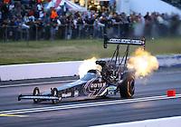 Jun 5, 2015; Englishtown, NJ, USA; NHRA top fuel driver Leah Pritchett during qualifying for the Summernationals at Old Bridge Township Raceway Park. Mandatory Credit: Mark J. Rebilas-