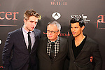 Robert Pattinson, Bill Condon & Taylor Lautner. Premiere Amanecer-Parte I en Barcelona.