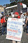 MANIFESTAZIONE PER LA LIBERTA' DI STAMPA PROMOSSA DAL FNSI<br /> PIAZZA DEL POPOLO ROMA 2009