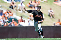 Oklahoma State  3B Mark Ginther against the Texas Longhorns on Sunday April 25th, 2010 at UFCU Dish-Falk Field in Austin, Texas.  (Photo by Andrew Woolley / Four Seam Images)