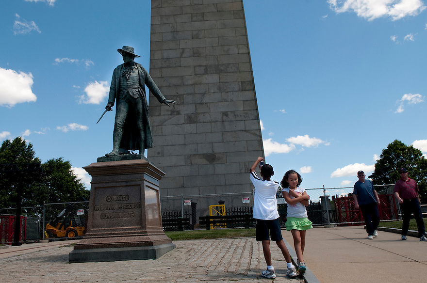 CHARLESTOWN, MA--July 1, 2010-- Bunker Hill Monument.  CREDIT: JODI HILTON FOR THE NEW YORK TIMES