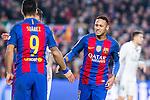 FC Barcelona's Luis Suarez, Neymar Santos Jr  during spanish La Liga match between Futbol Club Barcelona and Real Madrid  at Camp Nou Stadium in Barcelona , Spain. Decembe r03, 2016. (ALTERPHOTOS/Rodrigo Jimenez)