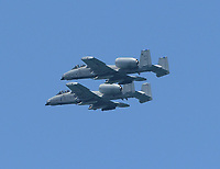 FORT LAUDERDALE, FL - MAY 04: A-10 Warthogs performs in the Fort Lauderdale Air Show on May 4, 2019 in Fort Lauderdale, Florida<br /> <br /> <br /> People:  A-10 Warthogs