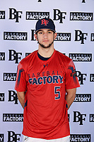 David Stirpe (5) of Hilton High School in Rochester, New York during the Baseball Factory All-America Pre-Season Tournament, powered by Under Armour, on January 12, 2018 at Sloan Park Complex in Mesa, Arizona.  (Mike Janes/Four Seam Images)