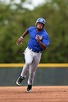 Toronto Blue Jays Lydell Moseby (80) during a minor league spring training game against the Pittsburgh Pirates on March 26, 2015 at Pirate City in Bradenton, Florida.  (Mike Janes/Four Seam Images)