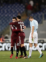 Calcio, Serie A: Roma, stadio Olimpico, 11 dicembre 2017.<br /> Torino's players celebrates after winning 3-1 the Italian Serie A football match between Lazio and Torino at Rome's Olympic stadium, December 11, 2017.<br /> UPDATE IMAGES PRESS/Isabella Bonotto
