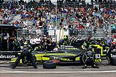 2017 Verizon IndyCar Series - Firestone Grand Prix of St. Petersburg<br /> St. Petersburg, FL USA<br /> Sunday 12 March 2017<br /> Charlie Kimball pit stop<br /> World Copyright:Sam Cobb/LAT Images<br /> ref: Digital Image cobb-stpete-170312-4352