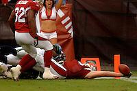Nov. 6, 2005; Tempe, AZ, USA; Tight end (83) Eric Edwards of the Arizona Cardinals scores a touchdown against the Seattle Seahawks at Sun Devil Stadium. Mandatory Credit: Mark J. Rebilas