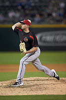 Rochester Red Wings relief pitcher Addison Reed (48) in action against the Charlotte Knights at BB&T BallPark on May 14, 2019 in Charlotte, North Carolina. The Knights defeated the Red Wings 13-7. (Brian Westerholt/Four Seam Images)