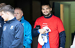 St Johnstone v Celtic…07.10.18…   McDiarmid Park    SPFL<br />A wink and a smile from Tony Watt who was on the bench to today<br />Picture by Graeme Hart. <br />Copyright Perthshire Picture Agency<br />Tel: 01738 623350  Mobile: 07990 594431