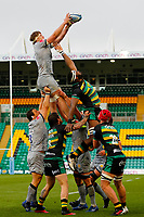13th March 2021; Franklin's Gardens, Northampton, East Midlands, England; Premiership Rugby Union, Northampton Saints versus Sale Sharks; Jean-Luc du Preez of Sale Sharks takes a line out