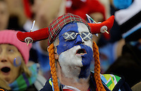 A Scotland supporter during the RBS 6 Nations Championship rugby game between Wales and Scotland at the Principality Stadium, Cardiff, Wales, UK Saturday 13 February 2016