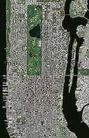 aerial photo map Manhattan, New York City