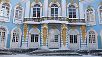 2A25HA2 Exterior of Catherine Palace, a Rococo palace located in the town of Tsarskoye Selo.