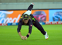 Australia's Adam Zampa catches Mark Chapman during the third international men's T20 cricket match between the New Zealand Black Capss and Australia at Sky Stadium in Wellington, New Zealand on Wednesday, 3 March 2021. Photo: Dave Lintott / lintottphoto.co.nz