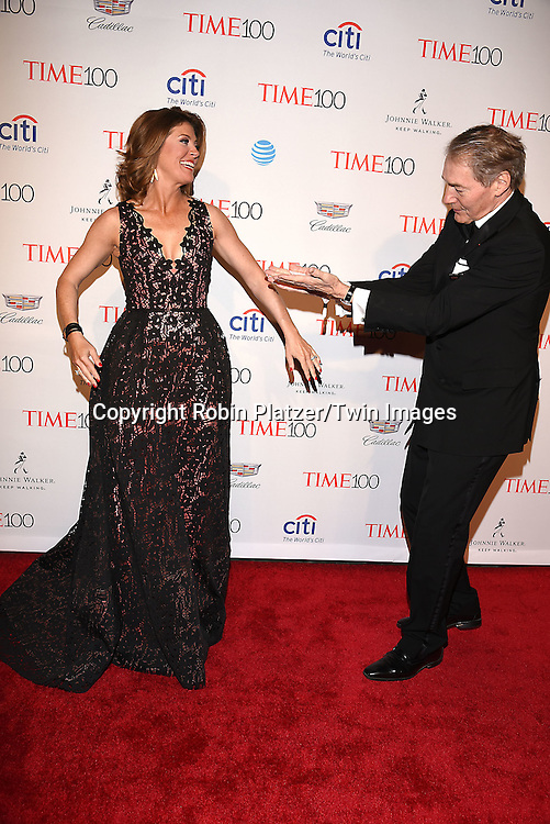 Norah O' Donnell and Charlie Rose attends the Time 100 Most Influential People in the World NYC Gala on April 26, 2016 at Frederick P Rose Hall in New York, New York, USA.<br /> <br /> photo by Robin Platzer/Twin Images<br />  <br /> phone number 212-935-0770