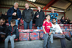 © Joel Goodman - 07973 332324 . 18/05/2016 . Accrington , UK . Accrington Stanley fans pre match . Accrington Stanley take on AFC Wimbledon at the Wham Stadium , in the 2nd leg of their League Two tie , the result from which will decide which team goes on to the final at Wembley . Photo credit : Joel Goodman