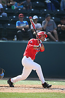 Alfonso Rivas (25) of the Arizona Wildcats bats against the UCLA Bruins at Jackie Robinson Stadium on March 19, 2017 in Los Angeles, California. UCLA defeated Arizona, 8-7. (Larry Goren/Four Seam Images)