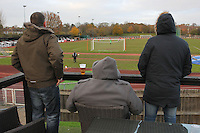 Spectators look on during the first half of the match  - AFC Hornchurch vs Wingate & Finchley - Ryman League Premier Division Football at Hornchurch Stadium, Bridge Avenue, Upminster, Essex - 30/11/13 - MANDATORY CREDIT: Gavin Ellis/TGSPHOTO - Self billing applies where appropriate - 0845 094 6026 - contact@tgsphoto.co.uk - NO UNPAID USE