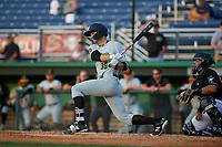 West Virginia Black Bears Matt Gorski (36) bats during a NY-Penn League game against the Batavia Muckdogs on June 26, 2019 at Dwyer Stadium in Batavia, New York.  Batavia defeated West Virginia 4-2.  (Mike Janes/Four Seam Images)