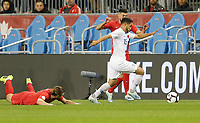 TORONTO, ON - OCTOBER 15: Cristian Roldan #15 of the United States moves with the ball during a game between Canada and USMNT at BMO Field on October 15, 2019 in Toronto, Canada.