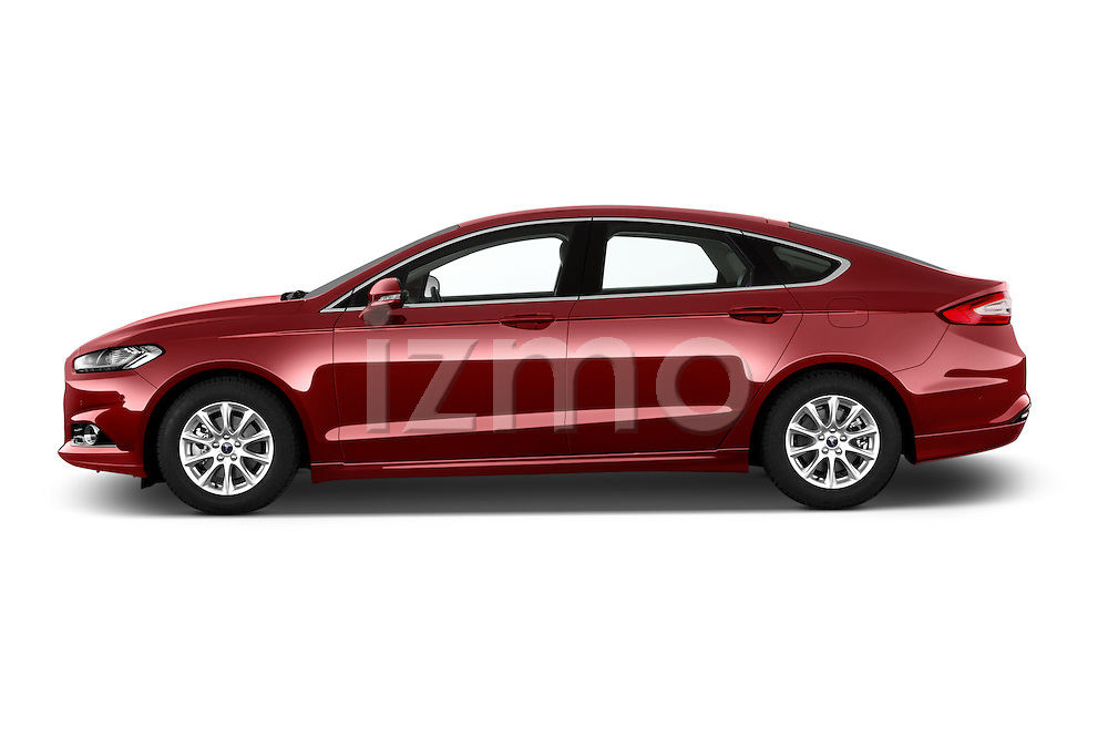 Car Driver side profile view of a 2015 Ford Mondeo Titanium 5 Door Hatchback Side View