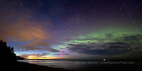 Auroral arc, dusk, lake superior, marquette, Michigan, Upper Peninsula, northern lights