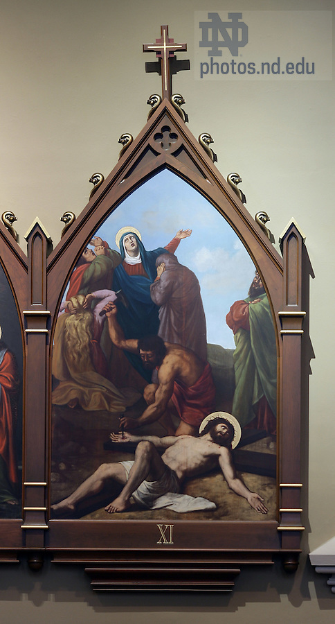 Stations of the Cross in the Basilica of the Sacred Heart.  Station 11...Photo by Matt Cashore..