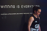 10 MAY 2014 - COVENTRY, GBR - Sarah Davies from the Paul Furness School of Weightlifting prepares to lift during the women's 63kg category round at the British 2014 Senior Weightlifting Championships and final 2014 Commonwealth Games qualifying event round at the Ricoh Arena in Coventry, Great Britain. Davies' combined total for the event of 191kg makes her eligible for selection for the England team for the Commonwealth Games in Glasgow (PHOTO COPYRIGHT © 2014 NIGEL FARROW, ALL RIGHTS RESERVED)
