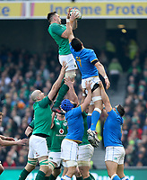 Saturday 10th February 2018 | Ireland vs Italy<br /> <br /> Jack Conan during the Six Nations Rugby Championship match between Ireland and Italy at the Aviva Stadium, Lansdowne Road,  Dublin Ireland. Photo by John Dickson / DICKSONDIGITAL