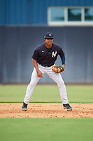 FCL Yankees first baseman Jose Martinez (36) during a game against the FCL Phillies on July 6, 2021 at the Yankees Minor League Complex in Tampa, Florida.  (Mike Janes/Four Seam Images)