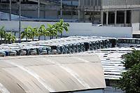Rio de Janeiro (RJ), 02/04/2020 - Covid-19-Rio - Para prevencao ao coronavirus (Covid-19) onibus do transporte publico foi reduzido e assim os veiculos lotam a garagem da empresa Redentor na zona oeste do Rio de Janeiro, nesta quinta-feira (02) (Foto: Alexandre Durao/Codigo 19/Codigo 19)