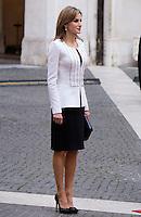 La Regina Letizia di Spagna a Palazzo Chigi, Roma, 19 novembre 2014.<br /> Spain's Queen Letizia portrayed at Chigi Palace, Rome, 19 <br /> UPDATE IMAGES PRESS/Riccardo De Luca
