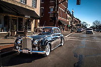 Rolls Royce parked at Main and State in Uptown Westerville.