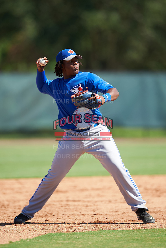 Toronto Blue Jays third baseman Vladimir Guerrero (6) during an Instructional League game against the Philadelphia Phillies on October 1, 2016 at the Carpenter Complex in Clearwater, Florida.  (Mike Janes/Four Seam Images)