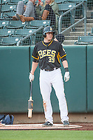Marc Krauss (39) of the Salt Lake Bees during the game against the Tacoma Rainiers in Pacific Coast League action at Smith's Ballpark on May 7, 2015 in Salt Lake City, Utah.  (Stephen Smith/Four Seam Images)