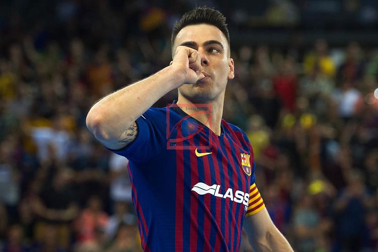 League LNFS 2018/2019.<br /> PlayOff Final. 1er. partido.<br /> FC Barcelona Lassa vs El Pozo Murcia: 7-2.<br /> Sergio Lozano.