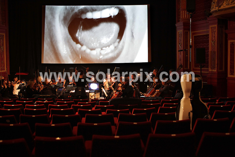 **ALL ROUND PICTURES FROM SOLARPIX.COM**.**NO UK NEWSPAPER PUBLICATION**.**UK MAGAZINE & SUPPLEMENT PUBLICATION ONLY** AND NO PUBLICATION IN AUSTRALIA, FRANCE, GERMANY, ITALY AND SCANDINAVIA** .Sky Movies HD hosted the first ever screening of Hitchcock's Psycho complete with full live accompaniment from the London Soundtrack Orchestra to celebrate Sky Movies Classics' definitive Hitchcock Season beginning on May 25th. The season includes the British TV HD premieres of many of Hitchcock's most famous titles. London, UK. 22 May 2009..This pic: Psycho..JOB REF: 9076 SFE       DATE: 22_05_2009.**MUST CREDIT SOLARPIX.COM OR DOUBLE FEE WILL BE CHARGED**.**ONLINE USAGE FEE GBP 50.00 PER PICTURE - NOTIFICATION OF USAGE TO PHOTO @ SOLARPIX.COM**.**CALL SOLARPIX : +34 952 811 768 or LOW RATE FROM UK 0844 617 7637**
