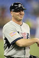 March 8, 2009:  Coach Billy Ripken (3) of Team USA during the first round of the World Baseball Classic at the Rogers Centre in Toronto, Ontario, Canada.  Team USA defeated Venezuela  15-6 to secure a spot in the second round of the tournament.  Photo by:  Mike Janes/Four Seam Images